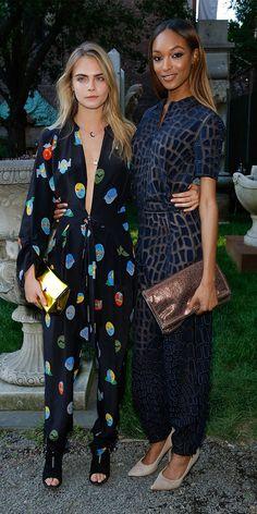 Cara Delevingne and Jourdan Dunn in Stella McCartney