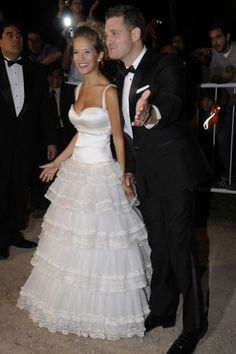 Michael Buble and his model gf Luisana Lopilato tied the knot in 2009. The couple met when Luisana starred in Michael's video for I Just Haven't Met You Yet. Aww!