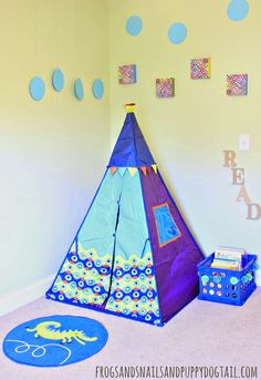 DIY Reading Book Nook or Quiet Place for Kids on FSPDT