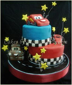 TORTA DECORADA DE CARS 2 | TORTAS CAKES BY MONICA FRACCHIA