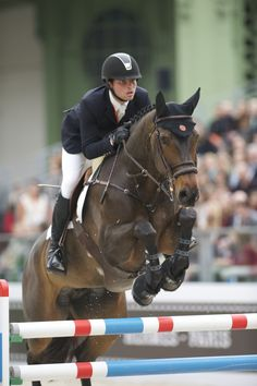 Daniel Bluman Shares His Excitement In Paris About His New Hermes Sponsorship.Daniel rides his Olympic mount Sancha, adorned with Hermes riding gear as well as tack. noellefloyd