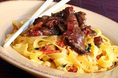 Beef tip and noodles