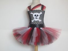 Pirate Costume Tutu Dress Baby Girls Toddler by AmericanBlossoms, $60.00
