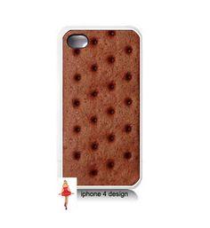 Ice Cream Sandwich Iphone 4 case, Iphone case, Iphone 4s case, Iphone 4 cover, i phone case, i phone 4s case. $15.99, via Etsy.