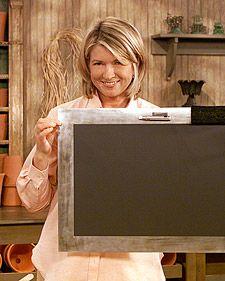 Magnetic Chalkboard | Martha Stewart