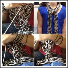 Arm knitting ...