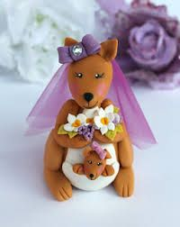 kangaroo wedding cake toppers - Google Search