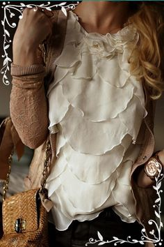 sweater, fashion, cloth, style, shirts, outfit, blous, scallop, ruffles