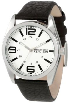 Kenneth Cole REACTION Men's RK5107 HOLIDAY-Box Set Silver Dial Black Strap & Brown Strap Watch $47.50
