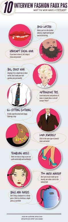 10 Interview Fashion Faux Pas