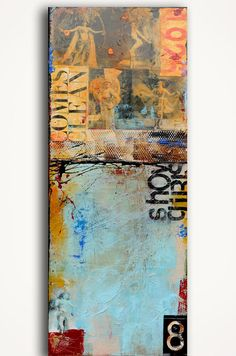Mixed media acrylic painting Show Girls by erin ashley