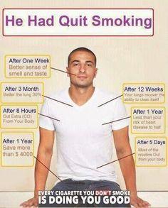 stuff, health benefits, healthi, quit smoke, inspir, cigarett, no smoking, 5 years, addiction recovery