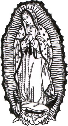 Our Lady of Guadalupe stamp from Teresa Satola
