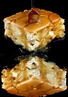 Caramel Apple Upside-Down Noodle Kugel