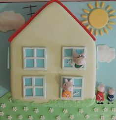 Peppa Pig House by ShereensCakes - http://cakesdecor.com/cakes/19213#