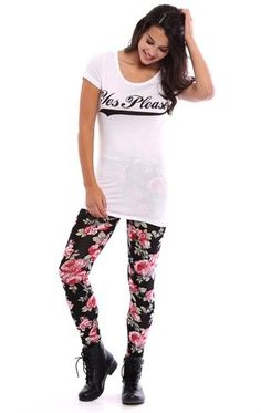 Deb Shops Tee with Yes Please No Thank You Screen $14.25