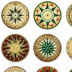 Compass rose art