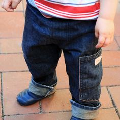 Sewing tutorial toddler jeans out of adult jeans by sewing for boys