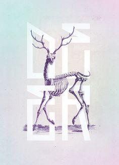 Deer print by Josip Kelava