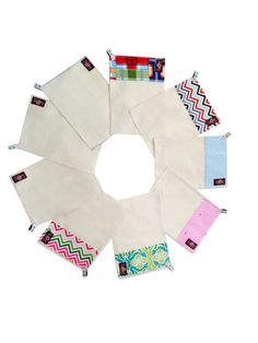 Le swipe™ organic + designer cotton reusable cloth wipes! Save money, Save trees and keep baby safe from harsh chemicals. #unpapertowel #clothwipes #makeclothmainstream #gogreen #reuse  www.lebibble.com