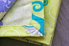Mitered-Corner Cloth Napkins | Prudent Baby