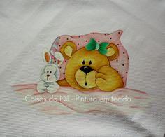Coisas da Nil - Pintura em tecido: Ursinhos dorminhocos...