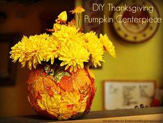 DIY Pumpkin Vase #fallcrafts