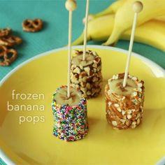 Frozen Banana Pops
