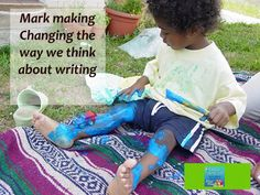 Keeping writing fun and playful with mark making activities for the curious under 5 child. How comfortable are you with mark making?