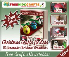 Free eBook -- Christmas Crafts for Kids: 18 Homemade Christmas Ornaments #FREE #Christmas #crafts #diy