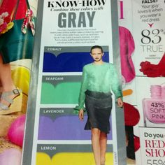 Wardrobe colorsplashing: Gray +++ from InStyle Apr2012