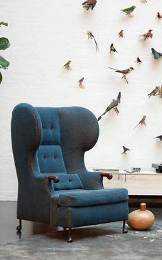 BDDW, wingback chair