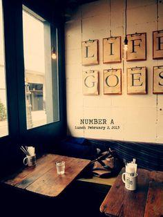cafe / clipboard signage