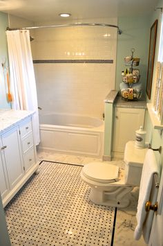I must have this bathroom in my 1920's farmhouse (that I own in my mind.)