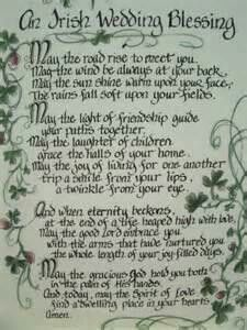 Irish Wedding Blessing  Use a double/hinged frame and include Scottish wedding prayer also