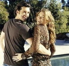 Patrick Dempsey and Ellen Pompeo. Are they not the most beautiful people ever. ♥ greys anatomy