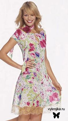 Patrón gratis: vestido de verano Burda-2006
