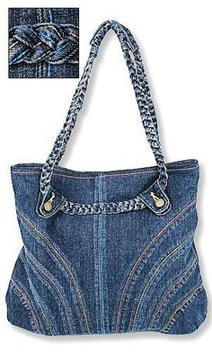 A compilation of ideas ... of old jeans ... Discussion on LiveInternet - Russian Service Online Diaries Old Jeans Bag, Denim Jeans, Purs, Pattern, Denim Bags, Braid, Jean Bag