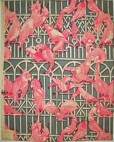 Aviary by simone. david and dash. miami, FL. 1960s, featuring a repeat print of birds