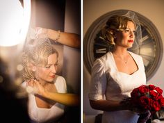 Bride Megan is simply stunning in her Marilyn Monroe inspired wedding frock by Janice Martin Couture - www.janicemartin.net    Photo by Ricky Stern Photography - www.miamiphotographer.net