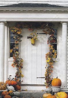 Festive fall front entry