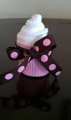 sock and/or washcloth cupcake
