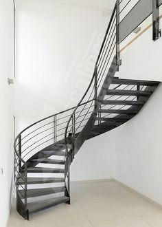 Photo dt91 esca 39 droit balanc design adapt aux grand for Type d escalier interieur