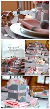 Grey and pink party - Perfect for a Baby Shower