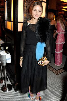 Olivia Palermo wearing Jimmy Choo sandals at LFW afterparty
