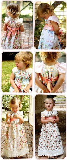 cutest vintage little girls' dresses