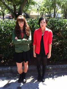 Daria and Jane cosplay. View more EPIC cosplay at http://pinterest.com/SuburbanFandom/cosplay/