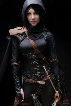 lyz brickley, cosplay, costumes, female warriors, artemis, legging outfits, black, alter ego, brickley garrett