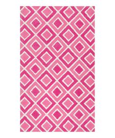 Another great find on #zulily! zulily-Exclusive Pink Diamonds Zoey Rug #zulilyfinds