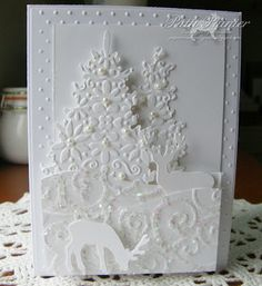 christmas cards, christma card, idea, white winter, white christma, cart noël, winter greet, scrapbook, paper creation
